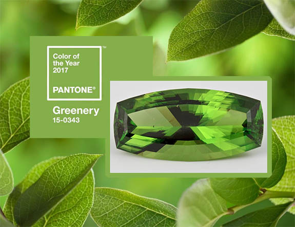Pantone Greenery 2017 Color Jewelry