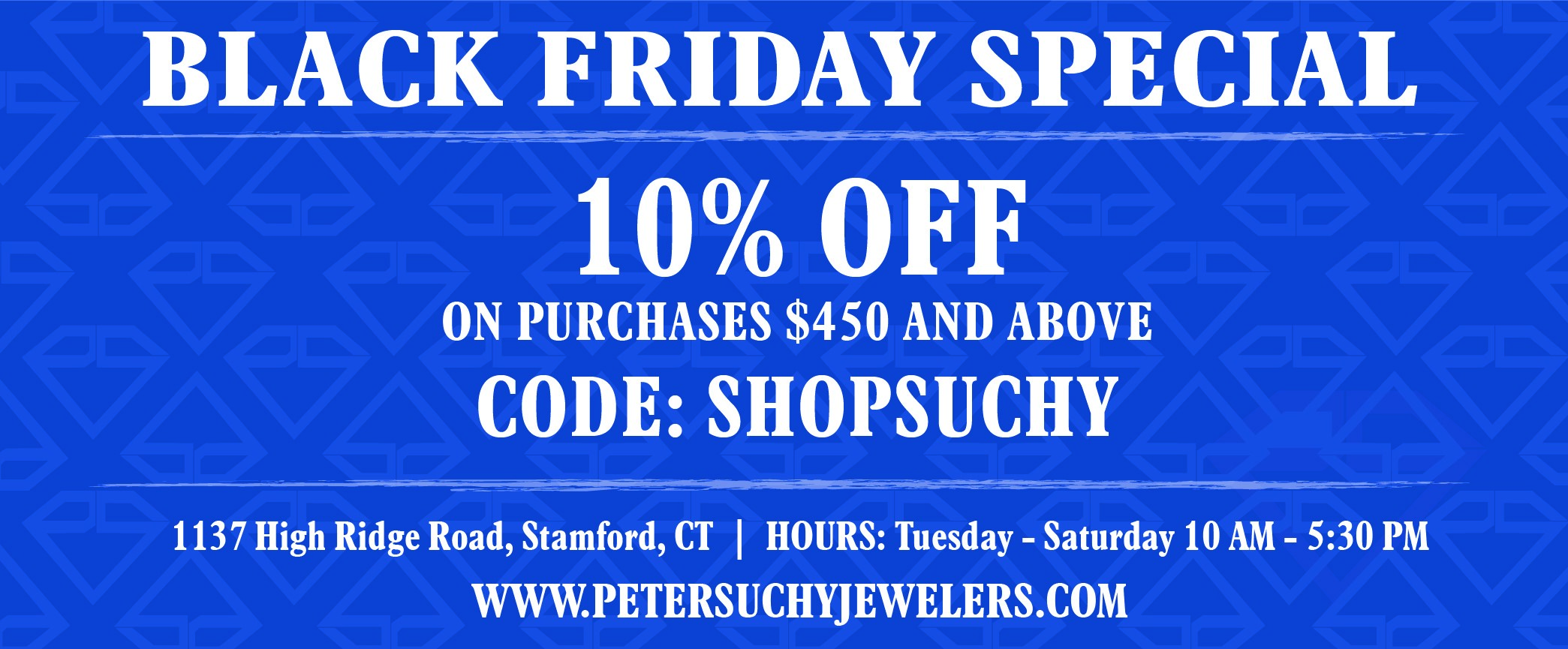 Peter Suchy Jewelers Holiday Promotion 2018