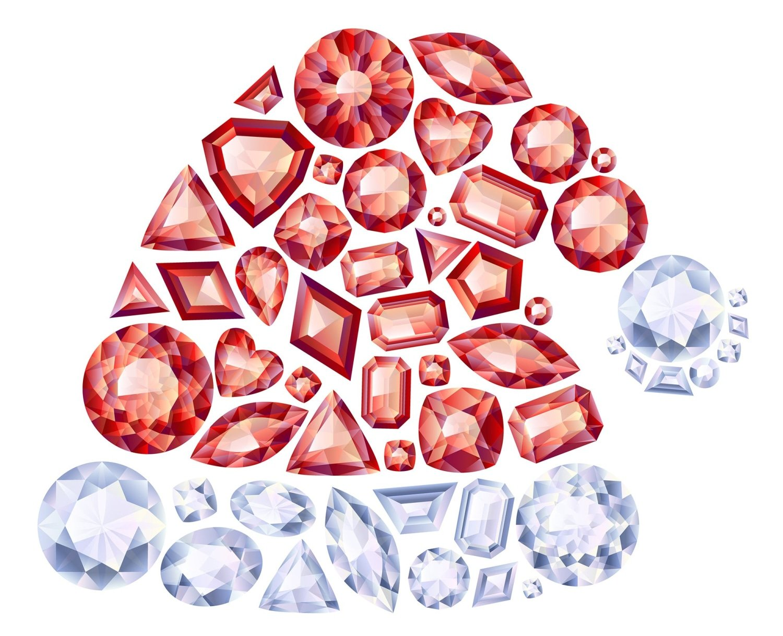 Gemstone Holiday Baubles