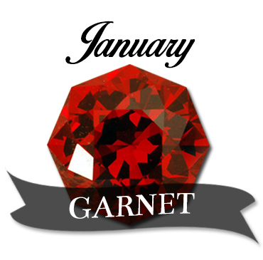 January Garnet Birthstone Jewelry