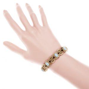 Natural Turquoise Vintage Mesh Bracelet