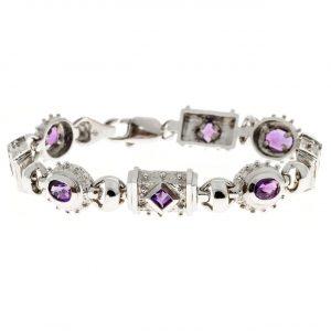 Estate Byzantine Amethyst Bracelet