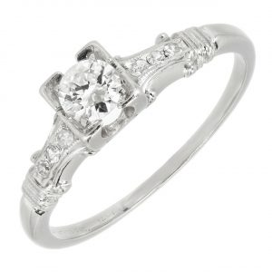 Vintage Jabel Diamond Engagement Ring