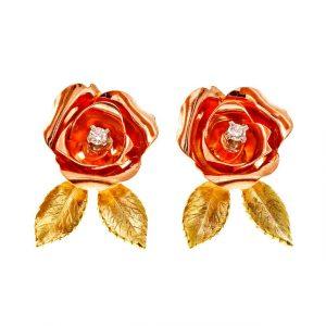 Vintage Retro Flower Earrings